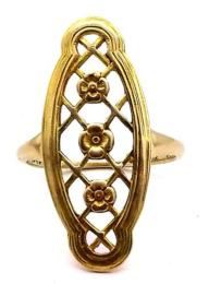 Yellow Gold Ring- Women's