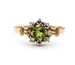 Yellow Gold Ring- Women's