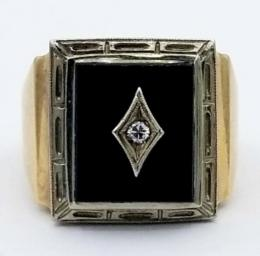Yellow Gold Ring - Men's
