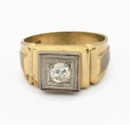 Yellow Gold Ring - Men's
