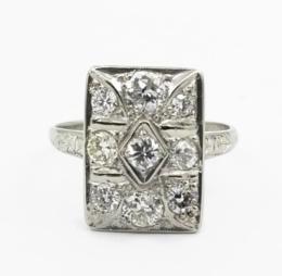 White Gold Ring - Women's