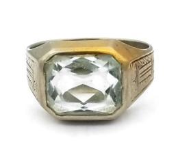 White Gold Ring - Men's