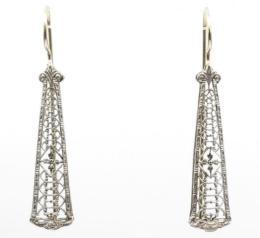 White Gold Earring