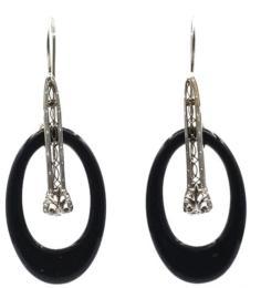 White Gold Earring