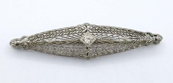 White Gold Pin