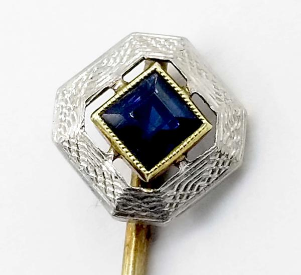 White Gold Pin